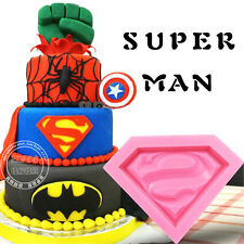 3D Superman Silicone Fondant Mold Cupcake Chocolate Candy Cake Decorating Mould