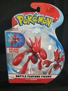 POKEMON BATTLE FEATURE ACTION FIGURE SCIZOR S4 DELUXE ACTION (NEW) 2020