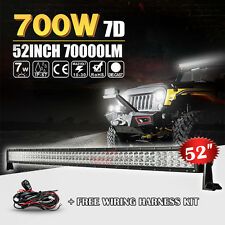"7D CREE 700W 52""INCH LED LIGHT BAR COMBO FIT FOR DRIVING OFFROAD 4WD JEEP 50INCH"