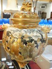 Brûle-parfum en porcelaine de Satsuma, Japon h. 19 cm