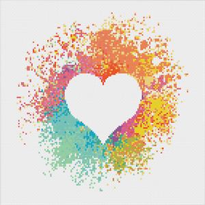Heart Cross Stitch Pattern by Meloca Designs