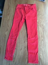 Red Denim Jeans / Leggings Womens size 10