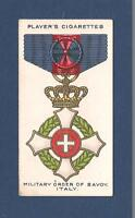 The MILITARY ORDER of SAVOY ITALY Italian War Medal 1927 original print card