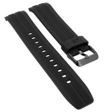 Casio Edifice Chronograph Ersatzband schwarz Uhrenarmband Resin Band EFR-556PB