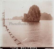 Tonkin Baie d'Along Vietnam Photo E14 Plaque de verre Stereo Vintage