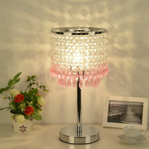 New 4 Color Crystal Table Lamp LED Desk Light Reading Lamps Bedside Lighting