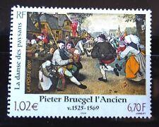 SELLOS FRANCIA 2001 3369 ARTE PINTURA PIETER BRUEGEL 1v.