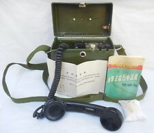 Vietnam Field Telephone Hand Crank Chinese T65 w/ Manual Rare HTF