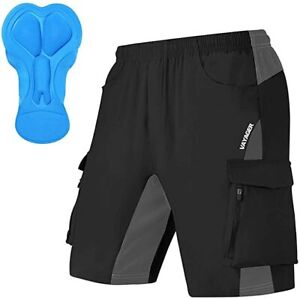 Men's Mountain Bike Shorts 3D Padded Bicycle MTB Shorts Loose-fit Lightweight XL