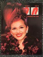 Madonna Icon Magazine 24. FANZINE. USA FANCLUB. MINT. 1997. EVITA Era