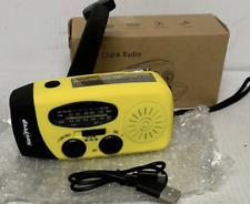 NEW! Emergency NowPrep Solar Crank Radio Solar And Crank Power Am/FM/WB Radio