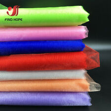 5M Sheer Organza Fabric Tutu Tulle Fabric For Craft Wedding Party Decoration DIY