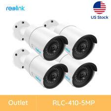 Reolink 4X 5Mp PoE Camera Outdoor/Indoor Ip Security Video Surveillance Rlc-410