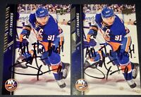 John Tavares Toronto Maple Leafs NHL auto autograph signed hockey card LOT X2 !!