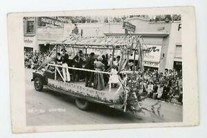 RPPC Real Photo Postcard parade float Calgary Stampede The Bantams   vintage