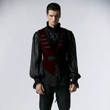 Punk Rave Red Swan Men's Vest Gothic Victorian Wedding Party Theater Y-539