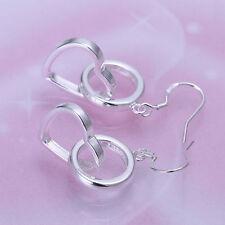 Love Heart Hoop Dangle Earrings 21-10 Fashion Jewelry 925 Silver Plated Small