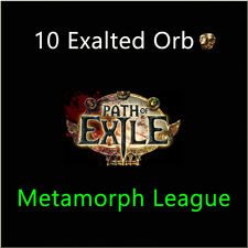 Path of Exile 10 x Exalted Orb PoE Currency Metamorph League Softcore SC NA PC