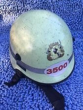 DRAGER  Vintage FIRE/RESCUE HELMET, with Neck Curtain