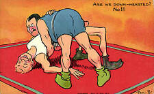 Sport Boxing Comic in Series 2598 by Davidson. Are We Down-Hearted by Tom Browne