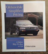 OLDSMOBILE CUTLASS CIERA SL SERIES II orig 1995 USA Mkt Price Compare Brochure