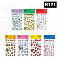 BTS BT21 Official Authentic Goods Clear Sticker 7SET by Kumhong Fancy +Track #