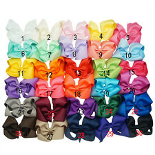 6 Inch 30 pcs/lot Hair Accessory Knot  Hair Bow Alligator Clip For Girl Boutique