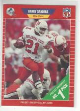 1989 Barry Sanders RB HOF Pro Set Rookie Football Card #494 NM