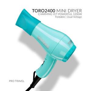 New!!Izutech TORO 2400 Mini Foldable HAIR Dryer In TEAL! FREE SHIPPING USA