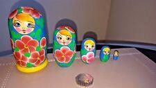 Traditional Matryoshka Russian Nesting Wooden Dolls Set 5pc