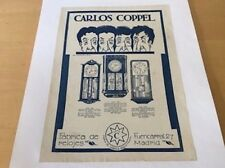 Vintage - Carlos Coppel - Magazine Advert - Item For Collectors