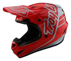 TLD 2021 GP MX Helmet Silhouette Red/Silver Adult  Motocross