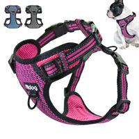 No Pull Front Lead Dog Harness Reflective Mesh Padded Vest French Bulldog S-XL