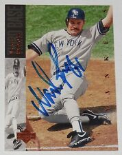 WADE BOGGS 1994 UPPER DECK AUTOGRAPHED BASEBALL CARD (NEW YORK YANKEES)