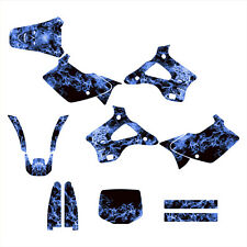 1994 1995 1996 1997 1998 KX125 KX250 graphics kit for Kawasaki #9500 Blue Zombie