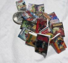 Dollhouse Lot of  miniature Books comics  variety titles batman, hulk,spiderman