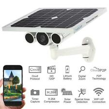Outdoor Solar Power Batteries Wireless WiFi IP Security Camera Night Vew US G6R1