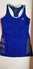 ADIDAS supernova RUNNING women size S sleeveless BLUE athletic sports vest top