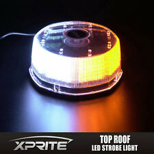 AMBER WHITE Flash Strobe Rotating Round Beacon Rooftop 240 LED Emergency Light