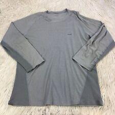 Patagonia Men's Xl Gray Capilene Long Sleeve Base Layer Flaws