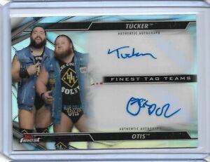 2020 Topps Finest WWE TUCKER  OTIS Heavy Machinery DUAL Auto Autograph Smackdown