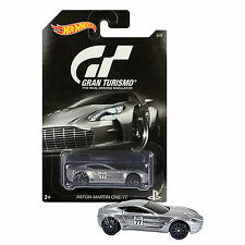 NEW 2015 Hot Wheels 1:64 Die Cast Car PS Gran Turismo Grey Aston Martin One-77 6