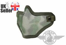 Airsoft Tactical Mesh Lower Face Protective Mask Military Paintball - Woodland