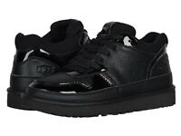 Women's Shoes UGG HIGHLAND Faux Leather Lace Up Sneakers 1111336 BLACK