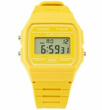 Official Classic Mustard Yellow Watch F-91WC-9AEF from Casio