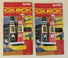 Alteco 3-Ton Quick Epoxid-Kleber, Zwei Komponentenkleber, 2x 20 g Grau/Grey
