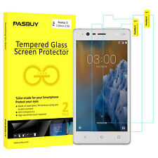 Screen Protector [2Pack PASBUY Retailbox] Tempered Glass for Nokia 3