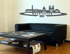 Washington D.C. City Skyline  - highest quality wall decal stickers
