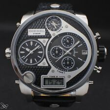 DIESEL DZ7125 Mr. Daddy Chronograph Herrenuhr Echt Leder Analog / Digital