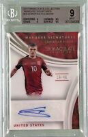 Christian Pulisic 2017 Immaculate Collection Marquee Autograph /50 BGS 9 (10)
